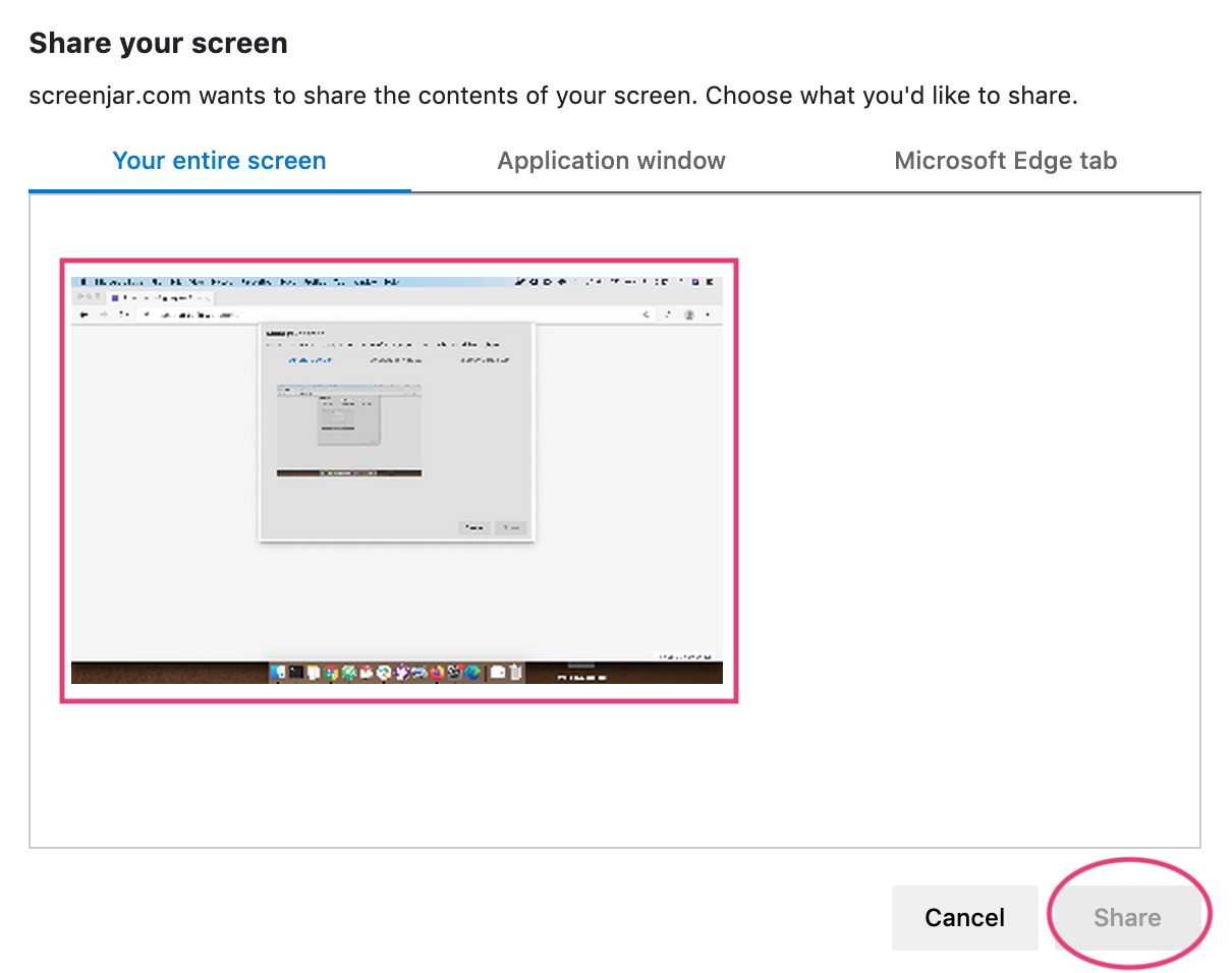 Chrome screen recording permission request